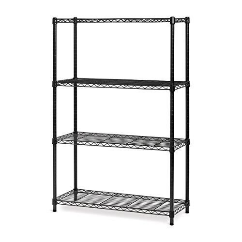 4 tier black shelving unit - 8