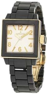Invicta Women's 1174 Ceramic White Dial Black Square Watch