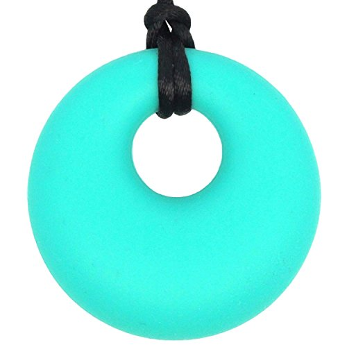 Baby Teething Necklace for Mom to Wear - BPA-Free & FDA Approved Teether - Safe & Soothing Relief For Baby (Turquoise/Teal)