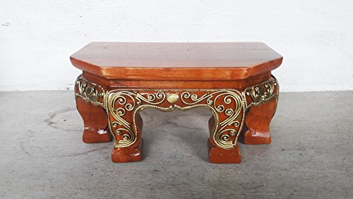 Used, CONSERVE Thailand : Wood Carving Stand Pedestal Buddha, for sale  Delivered anywhere in USA