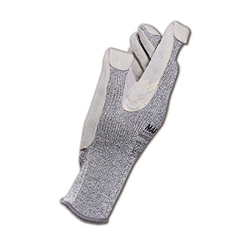 MAPA 832419 Glove KROMET 832 HDPE Cut Resistant Gloves with Leather Palm, Grey, 9 (Pack of 12)