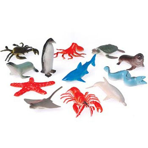 Toy Sea Animals (12 counts) (Life Sea Miniatures)