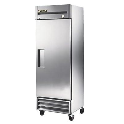 """True T-19 Reach-In Solid Swing Door Refrigerator, 78.5"""" Height, 24.5"""" Width, 27"""" Length"""