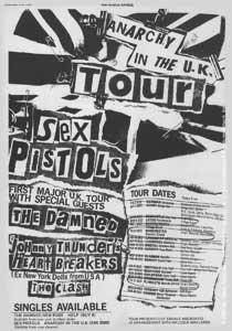 Sex Pistolsパンクロック音楽バンドステッカー – Anarchy In The u.k.ツアー