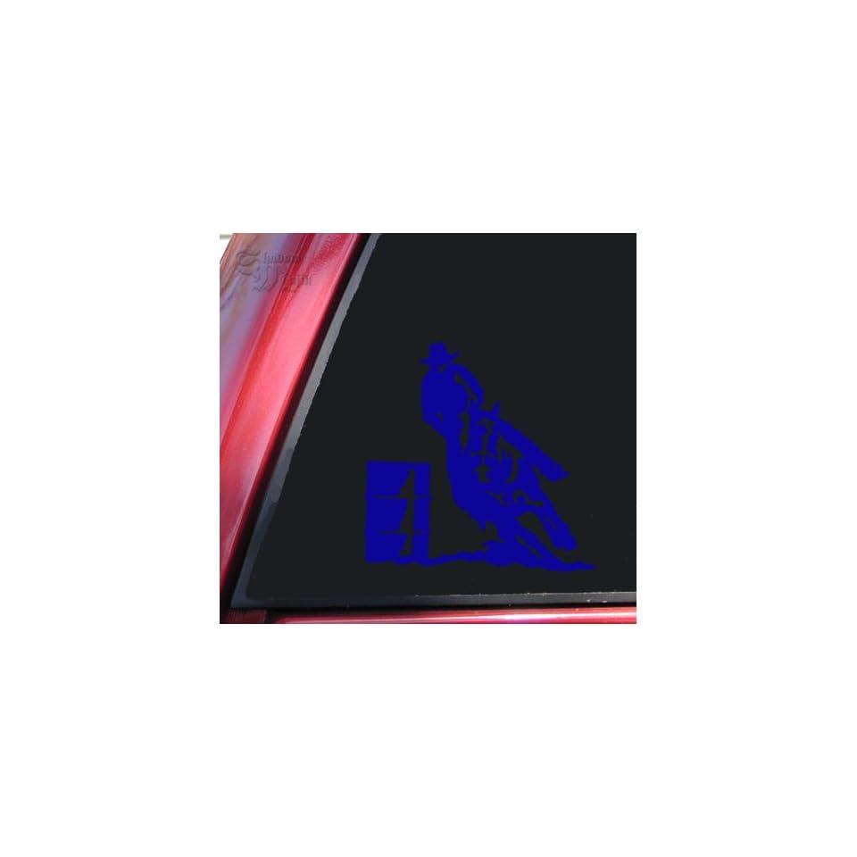 Barrel Racer Racing Rodeo Vinyl Decal Sticker   Blue