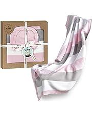 sei Design Babydecke, Schlafsack, Kuscheldecke, Erstlingsdecke oder Puckdecke für Babybett, Kinderwagen & Buggy aus 100% Baumwolle