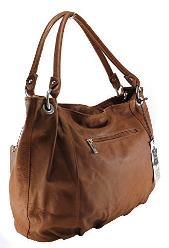 48x28x16cm Leather In Stylish Handles 100 Italy Genuine Ctm Women Bag Made With wRS6BXnq