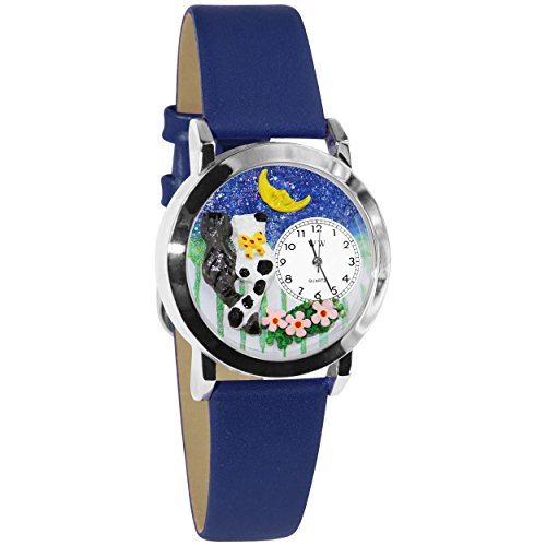 Whimsical Watches Women's S0120012 Cats Night Out Royal Blue Leather Watch