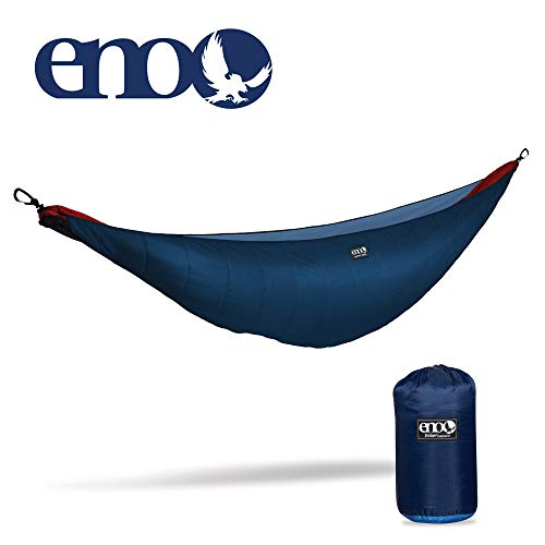 ENO – Eagles Nest Outfitters Ember Hammock UnderQuilt, Lightweight Sleeping Quilt for Cold Weather Camping, Navy Royal