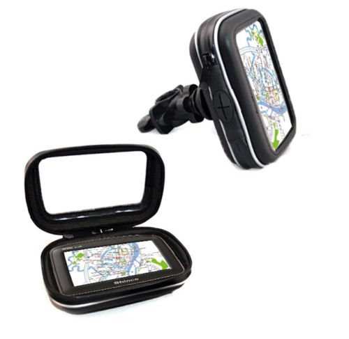 Price comparison product image Aseismatic Waterproof Bike Motorcycle Mount Case Holder for 5'' Garmin NUVI GPS