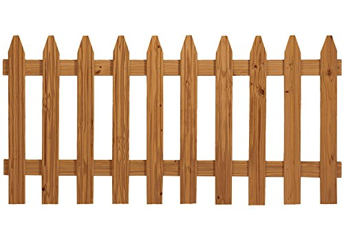 - Outdoor Essentials Pressure-Treated Cedar-Tone Picket Fence Panel Kit, 3 ft. x 6 ft.