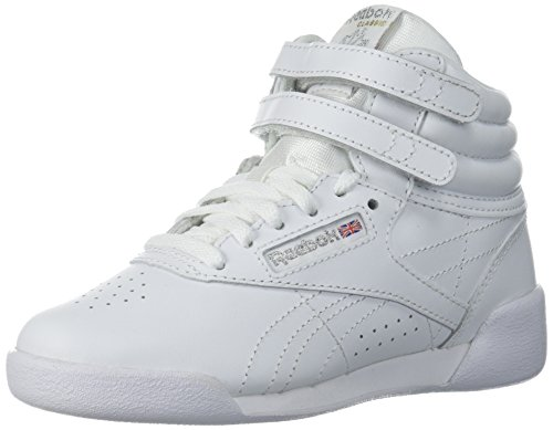 Reebok Girls' F/S HI Sneaker, US-White/Silver, 11 Child US Toddler -