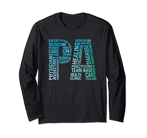 Physician Assistant Art PA Medical Student Gifts Long Sleeve T-Shirt (Best Gifts For Art Students)