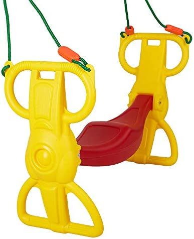 COLOR TREE Multi-Child Swing Set Back to Back Rider Glider