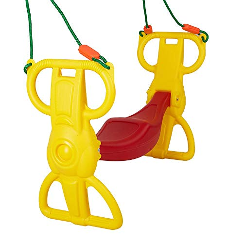 (COLOR TREE Multi-Child Swing Set Back to Back Rider Glider)