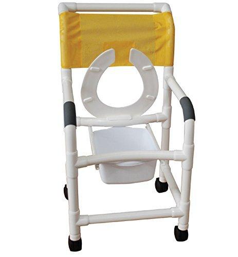 MJM 118-3TW-FS-FLS-BB-18-FF-SQ-PAIL Standard Shower Chair...