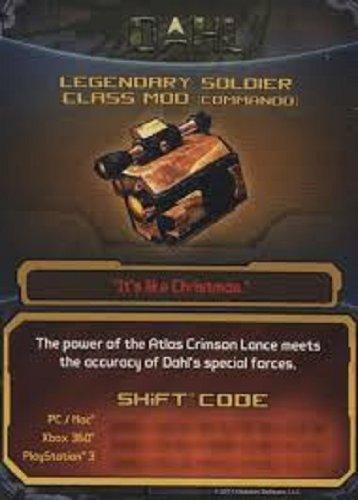 Borderlands 2 Legendary Soldier Class Mod (Commando) DLC CARD