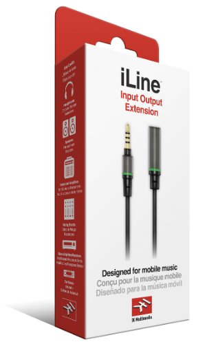 IK Multimedia iLine Input Output Extension IK Multimedia Cable for Mobile Phones and Tablets - Retail Packaging - Black