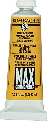 Water Miscible Oil Paint (Grumbacher Max Water Miscible Oil Paint, 37ml/1.25 oz, Naples Yellow)