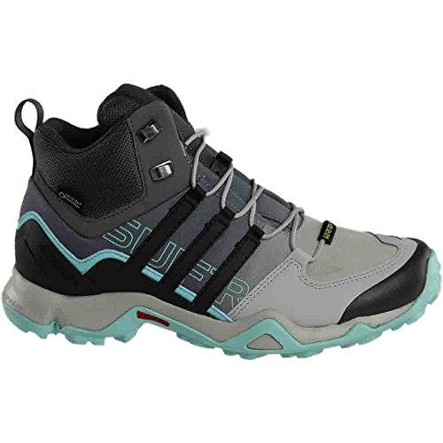 Adidas Terrex Swift R Mid Gtx Boot Donna Escursionismo 8.5 Grigio-utility Nero-chiaro Aqua