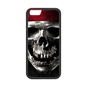 iPhone6 4.7 Case,Metal Pirate Skull High Definition Personalized Design Cover With Hign Quality Rubber Plastic Protection Case
