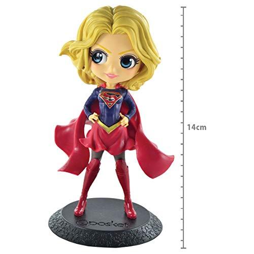 Dc Comics Q Posket- Supergirl - (mod A) Ref. 29325/29326 Bandai Banpresto Cores Diversas, Feita Com Pintura Aerográfica