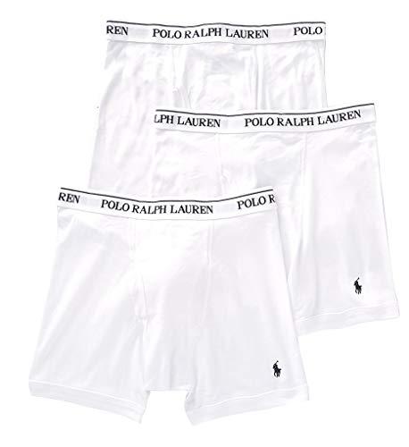 Polo Ralph Lauren Classic Fit 100% Cotton Boxer Briefs - 3 Pack (RCBBP3) 2XL/White