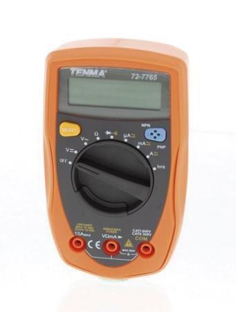 Tenma 72-7765 4,000 Count 3-3/4 Digit Multimeter DMM w/Transistor Hfe
