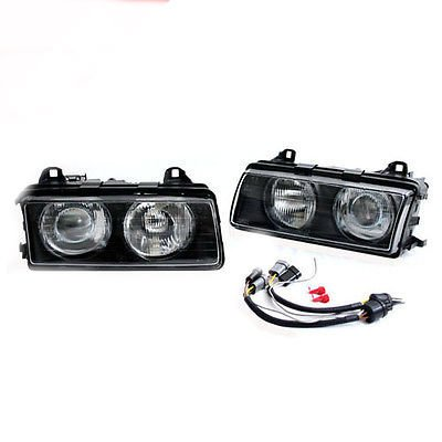 - BMW E36 3-SERIES HELIX/DEPO ZKW TYPE EURO PROJECTOR HEADLIGHTS W/ GLASS LENSES