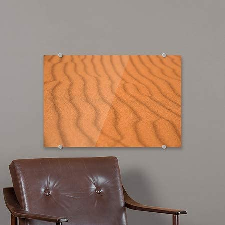 Circle CaptureWaves in a Sand Dune in Canyonlands National Park | 18x12 Utah Premium Acrylic Sign CGSignLab 5-Pack