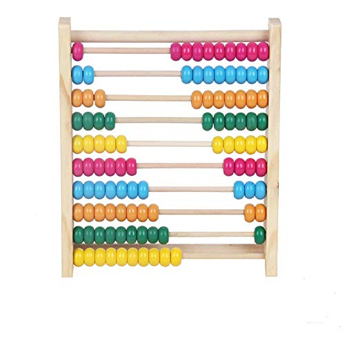 NERLMIAY Wooden Abacus Beads Wooden Toys Cognitive Learning Shelf Math Educational Toys,Math Toys for preschoolers