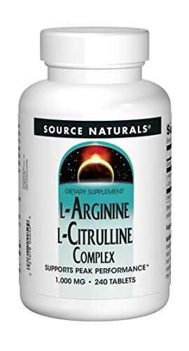 Source Naturals L-Arginine L-Citrulline Complex 1000mg Essential Amino Acid Supplement - 240 Tablets
