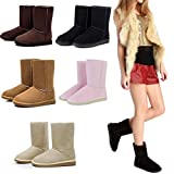 Todens Women Solid Color Keep Warm Flat Heel Short Snow Boots