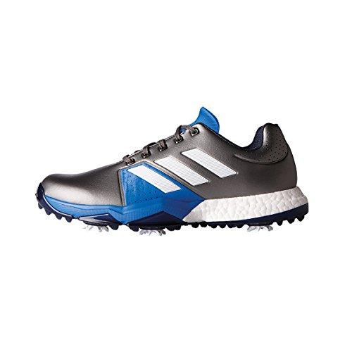 Adidas adiPower Boost 84Scarpe di Allarga Larga, Uomo, Argento/Blu/Bianco, 40