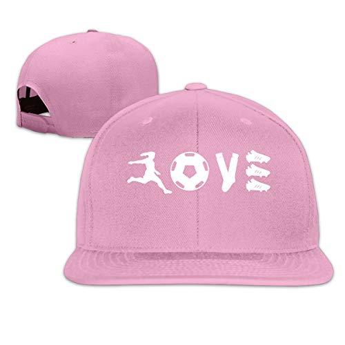 (ONE-HEART HR Baseball Cap Soccer Love Adjustable Custom Flat Peaked Hat Unisex)