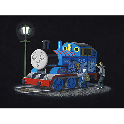- Doppelganger33 LTD Banksy Thomas Tank Engine Graffiti Street Art Large Canvas Art Print Poster Wall Decor 18x24 inch