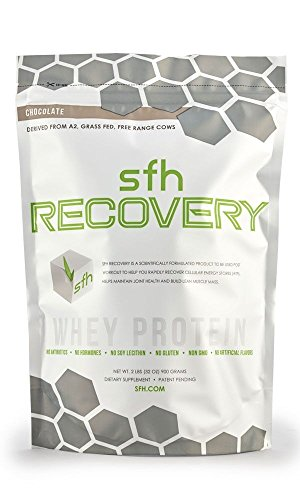 RECOVERY Whey Protein Powder (Chocolate) by SFH   Best Tasting 100% Grass Fed Whey for Post Workout   All Natural   100% Non-GMO, No Artificials, Soy Free, Gluten Free   2lb bag (900g)   30 servings