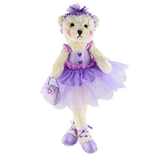 Wewill Ballerina Teddy Bear Stuffed Animals Cute Soft Toy Plush Creative Doll Christmas Birthday Festivals Gift, 23-Inch, Purple from Bstaofy