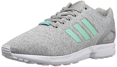 Adidas Originals Vrouwen Zx Flux W Lace-up Mode Sneaker Grijs Gespikkeld / Gemakkelijk Mint Wit