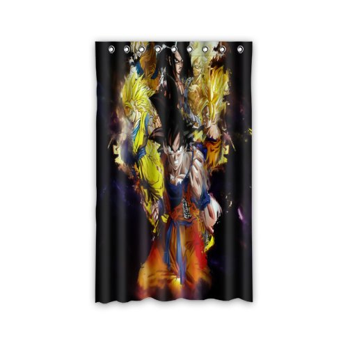 Scottshop Custom Anime Dragon Ball Z Window Curtain Thermal Insulated Blackout Window Curtains Drapery/Panels/Treatment Polyester Fabric 52