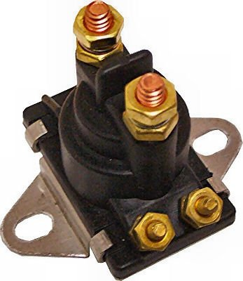 Marine 12V Solenoid for Mercury Mercruiser 35-275 HP replaces 89-96158T Curved Base by Tungsten Marine