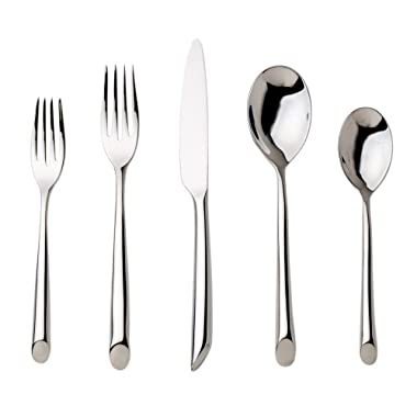 Nambe Frond 5-Piece Stainless Steel Place Setting, Service for 1
