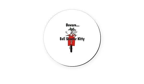 CafePress - Patinete mal Kitty Rides - corcho posavasos ...
