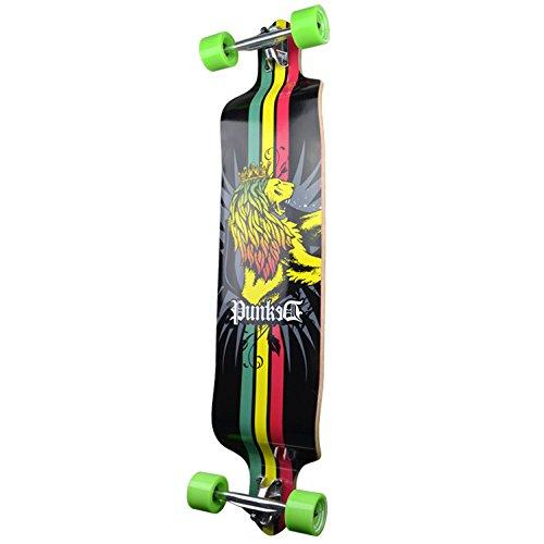 Yocaher Professinal Speed Drop Down Complete Longboard Skateboard Rasta