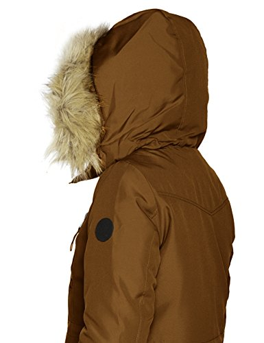 Femme Monks Vero Robe Robe Parka Moda Marron Monks xCEvEPOwqn