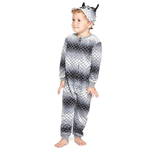 Boys Dragon Blanket Sleeper Union Suit - 12 Month Black]()