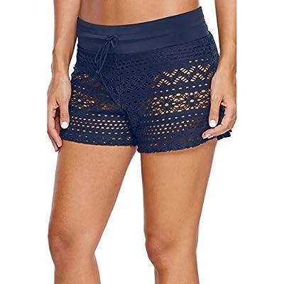 WILLBOND Women Swimsuit Shorts Tankini Swim Briefs Plus Size Bottom Boardshort Summer Swimwear Beach Trunks for Girls at Women's Clothing store