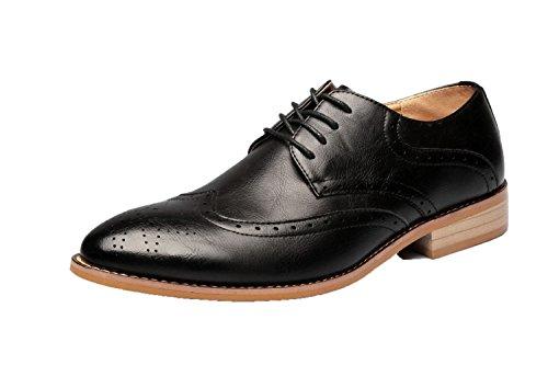 De Cuero Zapatos De Moda De Zapatos Ocasionales Black6cm Zapatos Hombres Británicos Hombre De wgqxZ
