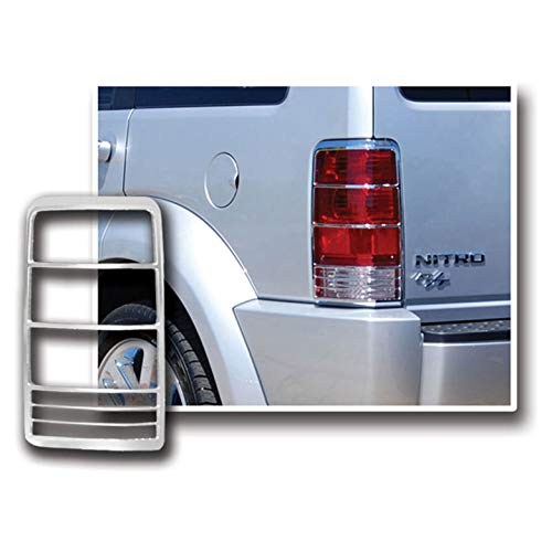 Upgrade Your Auto SES Chrome Tail Light Bezels for 2007-2011 Dodge Nitro