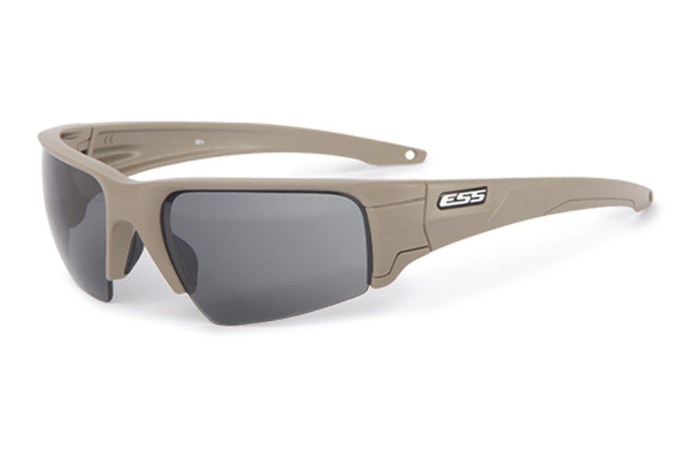 ESS Eyepro Crowbar Ballistic Sunglasses (Terrain Tan, Clear/Smoke Gray)